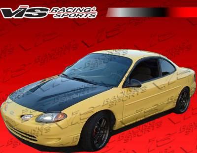 VIS Racing. - Ford ZX2 VIS Racing Invader Black Carbon Fiber Hood - 98FDZX22DVS-010C