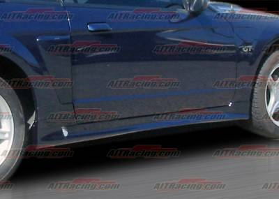 AIT Racing - Ford Mustang AIT Racing Stallion Style Side Skirts - FM99HISLNSS