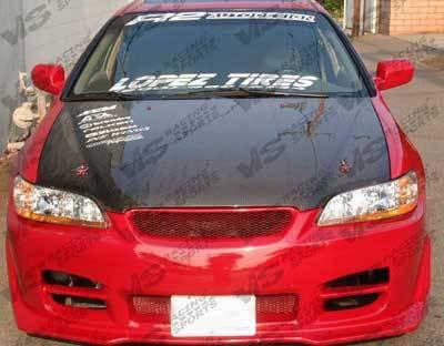 VIS Racing - Honda Accord 2DR VIS Racing OEM Black Carbon Fiber Hood - 98HDACC2DOE-010C