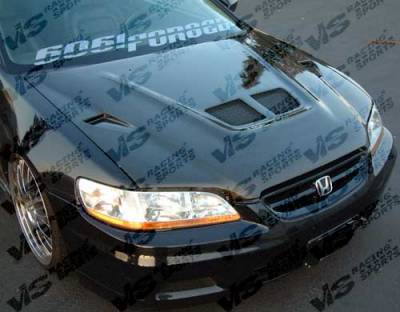 VIS Racing - Honda Accord 4DR VIS Racing EVO Black Carbon Fiber Hood - 98HDACC4DEV-010C