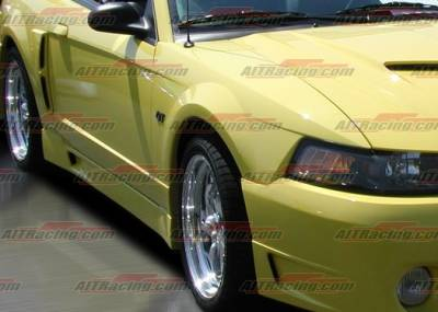 AIT Racing - Ford Mustang AIT Racing Stallion-2 Style Side Skirts - FM99HISTASS