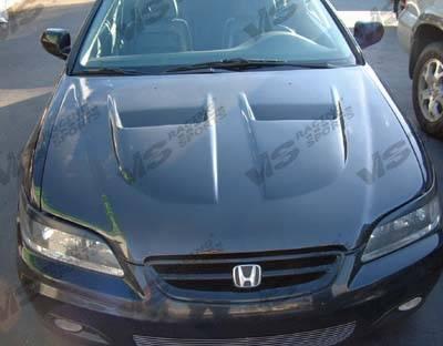 VIS Racing - Honda Accord 4DR VIS Racing Xtreme GT Black Carbon Fiber Hood - 98HDACC4DGT-010C