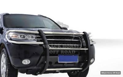Black Horse - Hyundai Santa Fe Black Horse Push Bar Guard