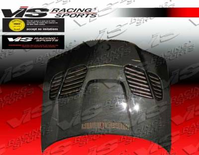 VIS Racing - BMW 3 Series 2DR VIS Racing GTR Black Carbon Fiber Hood - 99BME462DGTR-010C