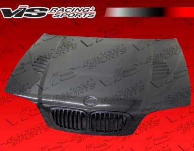 VIS Racing - BMW 3 Series 2DR VIS Racing XTS Black Carbon Fiber Hood - 99BME462DXTS-010C