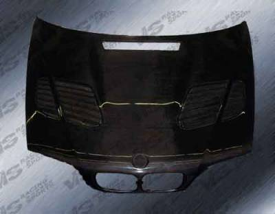 VIS Racing - BMW 3 Series 4DR VIS Racing GTR Black Carbon Fiber Hood - 99BME464DGTR-010C