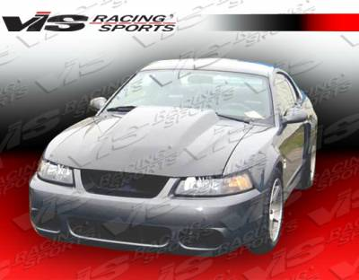 VIS Racing - Ford Mustang VIS Racing Cowl Induction Black Carbon Fiber Hood - 99FDMUS2DCI-010C