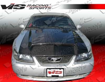 VIS Racing - Ford Mustang VIS Racing GT-500 Black Carbon Fiber Hood - 99FDMUS2DGT5-010C
