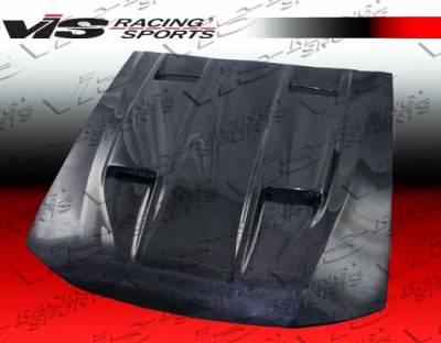 VIS Racing - Ford Mustang VIS Racing Mach-5 Black Carbon Fiber Hood - 99FDMUS2DMK5-010C