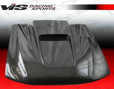 VIS Racing - Ford Mustang VIS Racing ZD Black Carbon Fiber Hood - 99FDMUS2DZD-010C
