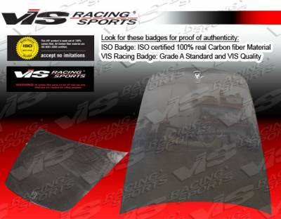 VIS Racing - Ferrari 360 VIS Racing OEM Black Carbon Fiber Hood - 99FR3602DOE-010C