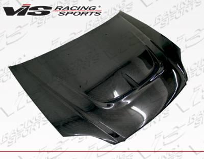 VIS Racing - Honda Civic VIS Racing Monster Carbon Fiber Hood - 99HDCVC2DMON-010C