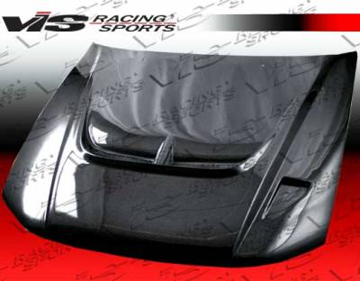 VIS Racing - Mitsubishi Galant VIS Racing Monster Black Carbon Fiber Hood - 99MTGAL4DMON-010C