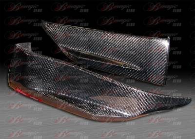 AIT Racing - Infiniti G35 2DR AIT Racing GTR Style B-Magic Carbon Fiber Rear Add-On - G3503BMGTRRS2