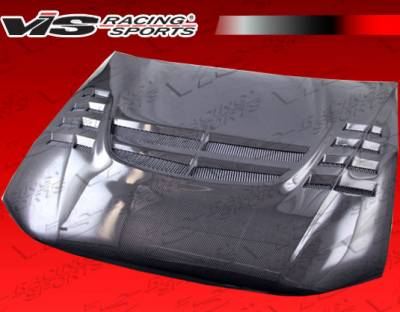 VIS Racing - Mitsubishi Galant VIS Racing VTX Black Carbon Fiber Hood - 99MTGAL4DVTX-010C