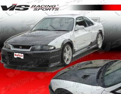 VIS Racing - Nissan Skyline VIS Racing JS Carbon Fiber Hood - 99NSR342DGRJS-010C