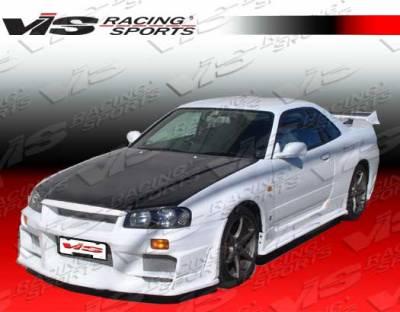 VIS Racing - Nissan Skyline VIS Racing OEM Carbon Fiber Hood - 99NSR342DGROE-010C