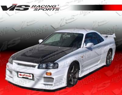 VIS Racing - Nissan Skyline VIS Racing Techno-R Carbon Fiber Hood - 99NSR342DGRTNR-010C