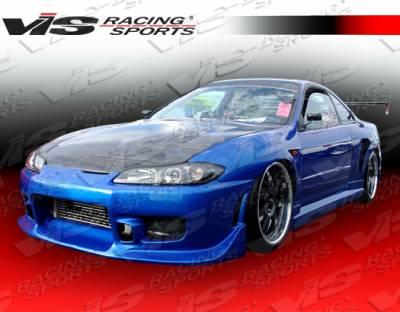 VIS Racing - Nissan Silvia VIS Racing OEM Black Carbon Fiber Hood - 99NSS152DOE-010C