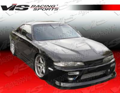 VIS Racing - Nissan Silvia VIS Racing Invader Black Carbon Fiber Hood - 99NSS152DVS-010C