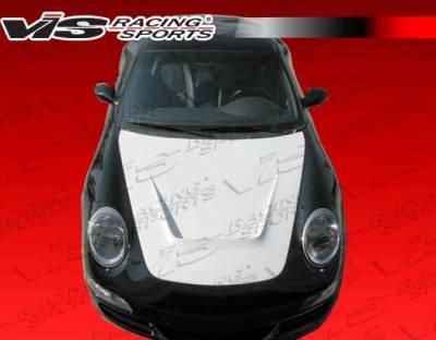 VIS Racing - Porsche 911 VIS Racing G-Tech Style Fiberglass Hood - 99PS9962DGTH-010