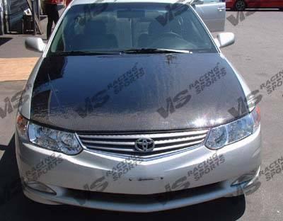 VIS Racing - Toyota Solara VIS Racing OEM Black Carbon Fiber Hood - 99TYSOL2DOE-010C