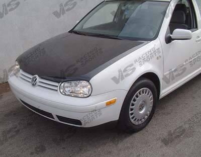 VIS Racing - Volkswagen Golf VIS Racing OEM Black Carbon Fiber Hood - 99VWGOF2DOE-010C