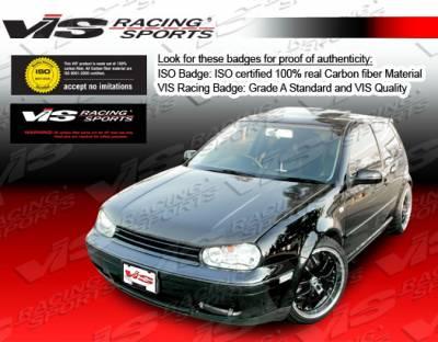 VIS Racing - Volkswagen Jetta VIS Racing Boser Black Carbon Fiber Hood - 99VWJET4DBOS-010C