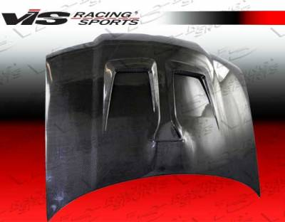VIS Racing - Volkswagen Jetta VIS Racing Monster Black Carbon Fiber Hood - 99VWJET4DMON-010C