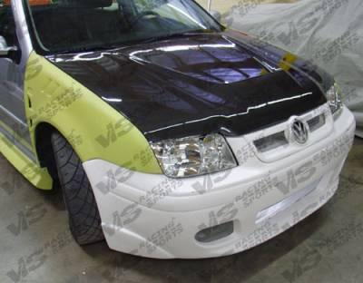VIS Racing - Volkswagen Jetta VIS Racing Invader Black Carbon Fiber Hood - 99VWJET4DVS-010C