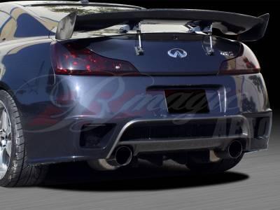 AIT Racing - Infiniti G37 AIT Racing GT-R Style Rear Bumper - G3708BMGTRRB2