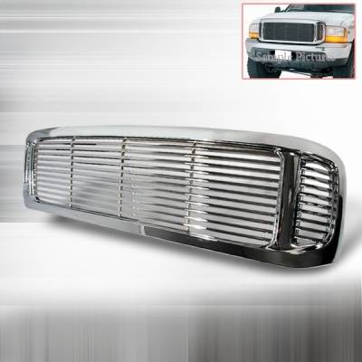 Custom Disco - Ford F250 Custom Disco Chrome Billet Grille - 1PC - HBG-F250991PC