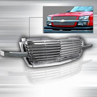 Custom Disco - Chevrolet Silverado Custom Disco Billet Grille - 1PC - HBG-SIV031PC