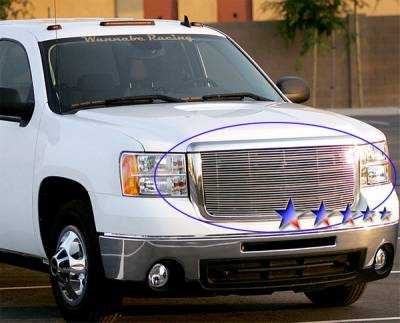 APS - GMC Sierra APS Billet Grille - without Logo Opening - Upper - Aluminum - G66522A