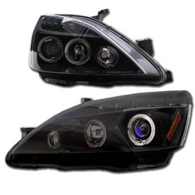 Custom - Black Clear LED Dual Halo Pro Headlights
