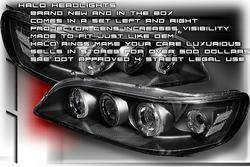 Custom - Black Dual Halo Pro Headlights