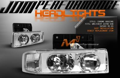 Custom - JDM Chrome Headlights