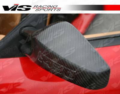 VIS Racing - Ferrari F430 VIS Racing OEM Style Carbon Fiber Mirror - 05FR4302DOE-014C
