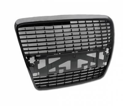 4CarOption - Audi A6 4CarOption Front Hood Grille - GR-A60506-BK