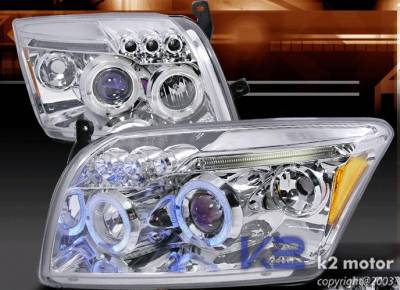 Custom - Chrome Halo LED Pro Headlights