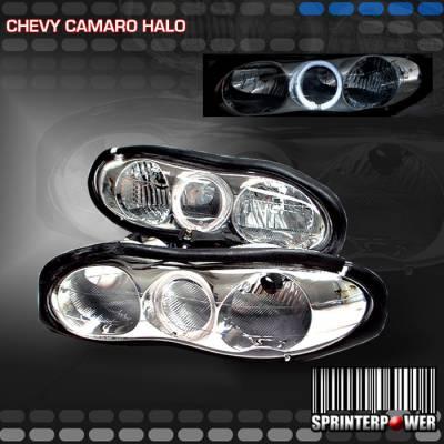 Custom - Chrome Diamond Halo Headlights