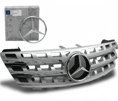 4CarOption - Mercedes ML 4CarOption Front Hood Grille - GRA-W1640608WNML-SL
