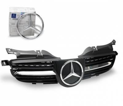 4CarOption - Mercedes R Class 4CarOption Front Hood Grille - GRA-W1709804W171-BK