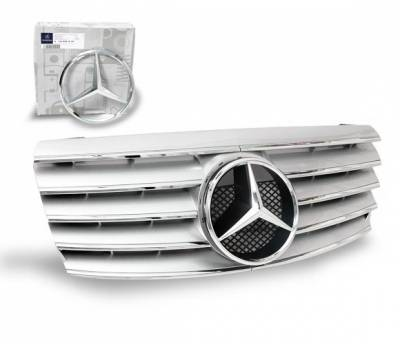 4CarOption - Mercedes C Class 4CarOption Front Hood Grille - GRA-W2029400W-CL5SL