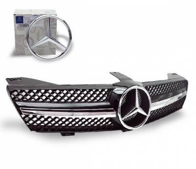 4CarOption - Mercedes CLS 4CarOption Front Hood Grille - GRA-W2190608WSLN-BK