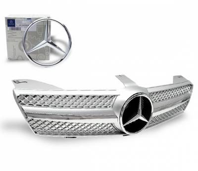 4CarOption - Mercedes CLS 4CarOption Front Hood Grille - GRA-W2190608WSLN-SL