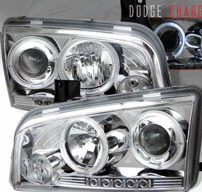 Custom - Chrome Dual Halo LED Headlights