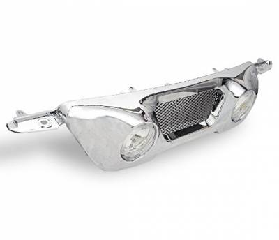 4CarOption - Honda CRV 4CarOption Front Hood Grille - GR-CRV0106FG-CM