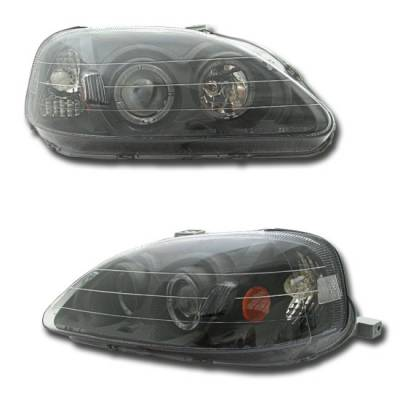 Custom - Projector Black-Clear Headlights