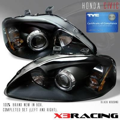 Custom - Projector Black Style  Headlights